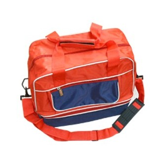 BOLSA ZAPATILLERO MEDIANA MINITEAM COLOR ROJO MARINO VIVO BLANCO SOFTEE