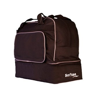 BOLSA ZAPATILLERO GRANDE TEAM COLOR NEGRO VIVO GRIS SOFTEE