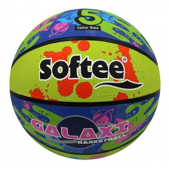 BALÓN BALONCESTO NYLON SOFTEE GALAXY - 5, MULTICOLOR