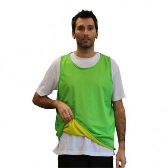 PETO REVERSIBLE UNISEX COLOR VERDE/AMARILLO TALLA SENIOR