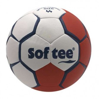 BALÓN BALONMANO SOFTEE FLASH - ROJO/BLANCO, 44CM