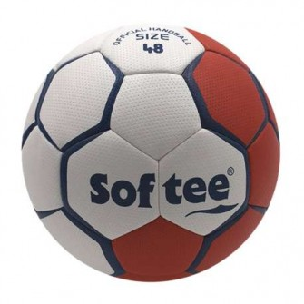 BALÓN BALONMANO SOFTEE FLASH - ROJO/BLANCO, 48CM