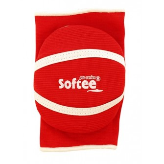 RODILLERA/CODERA ACOLCHADA SOFTEE COLOR ROJO TALLA SENIOR