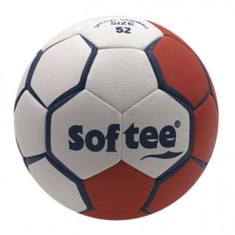 BALÓN BALONMANO SOFTEE FLASH - ROJO/BLANCO, 52CM
