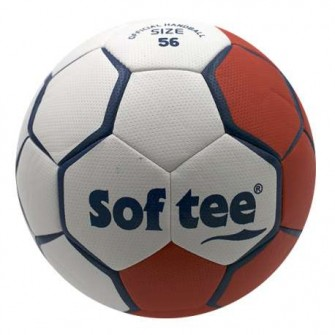 BALÓN BALONMANO SOFTEE FLASH - 56CM, ROJO/BLANCO