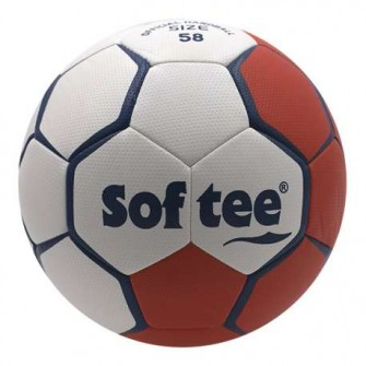 BALÓN BALONMANO SOFTEE FLASH - 58CM, ROJO/BLANCO