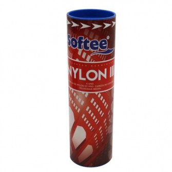 VOLANTES BADMINTON SOFTEE 'NYLON III' 6UDS COLOR BLANCO TALLA UNICA