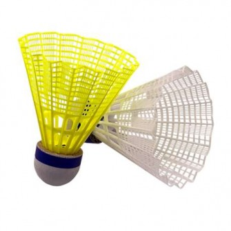 VOLANTES BADMINTON SOFTEE 'NYLON III' 6UDS COLOR AMARILLO TALLA UNICA