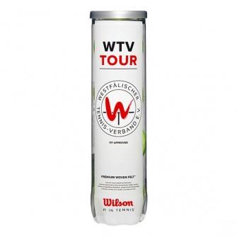 "BOTE 4 PELOTAS DE TENIS WILSON ""WTV TOUR"""
