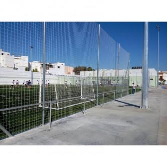 POSTE METALICO GALVANIZADO 7 MTS PARA RED PROTECCION SIN BOTES