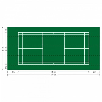 (UD) PISTA DE BADMINTON PORTATIL PAVIGRASS (17,40x8,1 MTS)