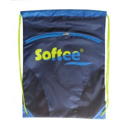 GYMSACK SOFTEE CON RED Y BOLSILLO COLOR MARINO/ROYAL/VERDE TALLA UNICA