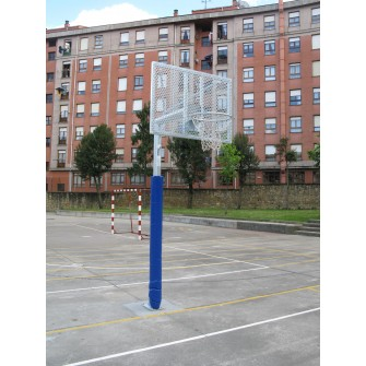 JGO CANASTAS ANTIVANDALICAS BALONCESTO NEW TUBO 114 MM CINCADA -INCLUYE AROS, REDES Y TABLEROS-
