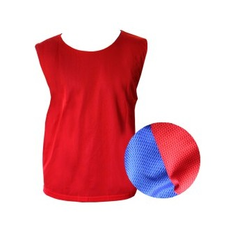 PETO REVERSIBLE JUNIOR AZUL-ROJO