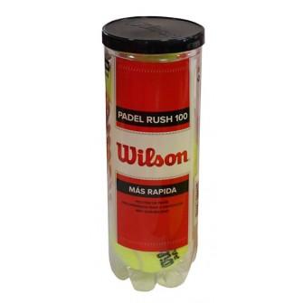 """BOTE 3 PELOTAS DE PADEL WILSON """"RUSH 100"""""""