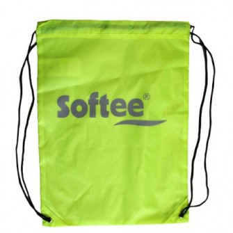 GYMSACK SOFTEE BASIC COLOR AMARILLO FLUOR TALLA UNICA