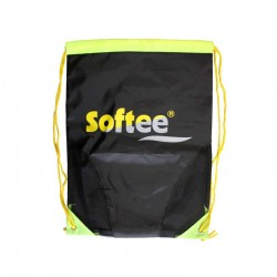 GYMSACK SOFTEE CON RED COLOR NEGRO/AMARILLO FLUOR TALLA UNICA
