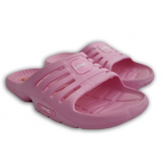 CAJA 12 PARES CHANCLA MODELO EVY COLOR ROSA TALLA 30-35