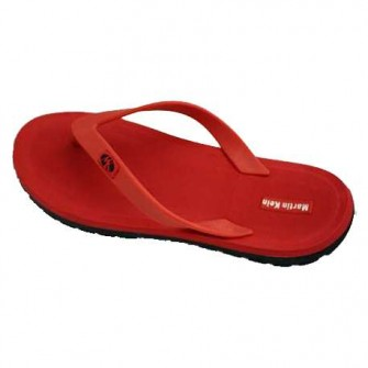 CHANCLAS MARTIN KEIN MEDANO COLOR ROJO