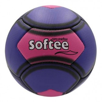 BALÓN SOFTEE FUTBOL BEACH 5 COLOR VIOLETA/ROSA TALLA PLAYA 5
