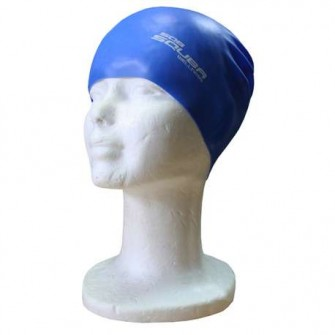 GORRO NATACIÓN SILICONA SQUBA COLOR ROYAL TALLA SENIOR