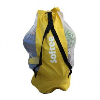 SACO PORTABALONES SOFTEE COLOR AMARILLO TALLA UNICA