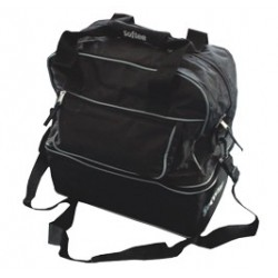 BOLSA ZAPATILLERO MEDIANA MINITEAM COLOR NEGRO VIVO GRIS SOFTEE